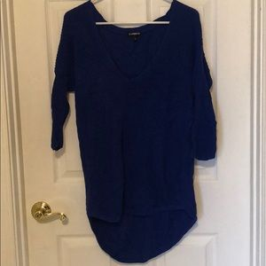 Blue Express 3/4 sleeve/long sleeve sweater, small